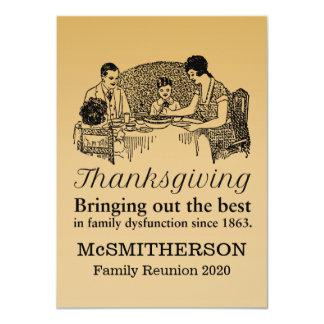 Thanksgiving Dinner Funny Family Reunion Invitatio 4.5x6.25 Paper Invitation Card