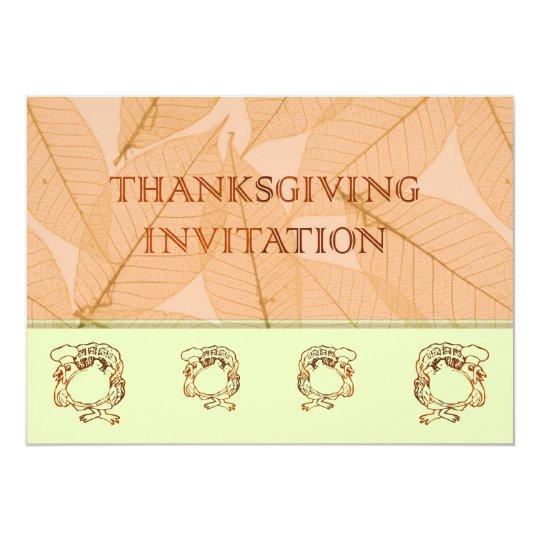 Thanksgiving Dinner Invitatation with turkey Card