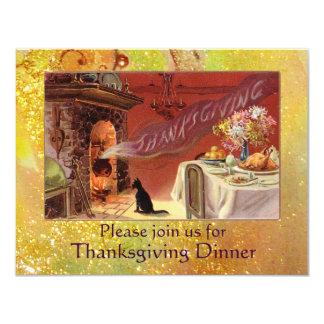 Thanksgiving Dinner 4.25x5.5 Paper Invitation Card