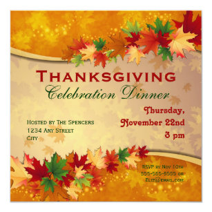 thanksgiving invitations invite your guests today zazzle