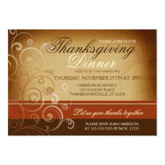 Thanksgiving Dinner Custom Announcements