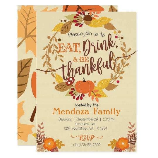 Thanksgiving Dinner Invitation Feast Invitation Zazzle Com