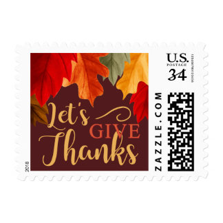 THANKSGIVING DINNER INVITATION FOLIAGE POSTCARD POSTAGE