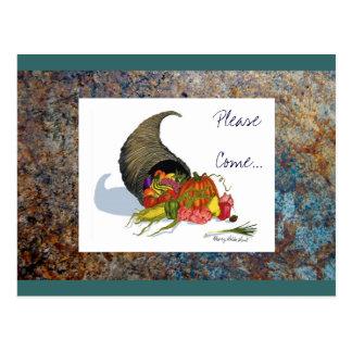 Thanksgiving Dinner Invitation on ... - Customized Postcard