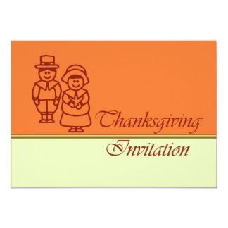 Thanksgiving Dinner Invitation with pilgrims