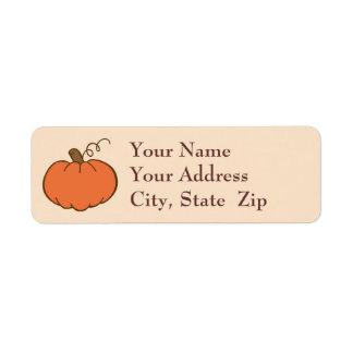Thanksgiving Dinner Custom Return Address Label