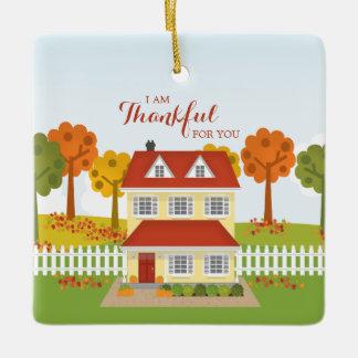 Thanksgiving Dinner Open House Ceramic Ornament