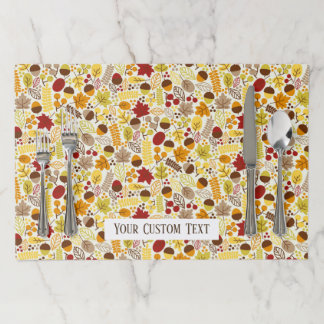 Thanksgiving Dinner or Fall Wedding Custom Text Paper Placemat