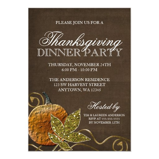 Thanksgiving Dinner Party Card