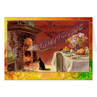 Thanksgiving Dinner Party Greeting Card