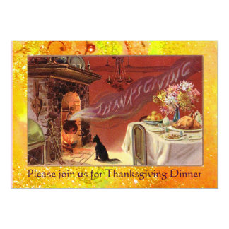 Thanksgiving Dinner Party 5x7 Paper Invitation Card