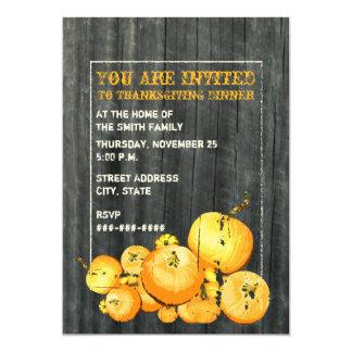 """Thanksgiving Dinner Party Invitation - Pumpkins 5"""" X 7"""" Invitation Card"""