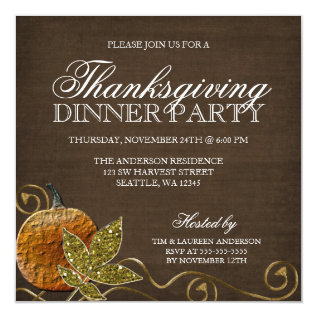 Thanksgiving Dinner Party Invitations at Zazzle