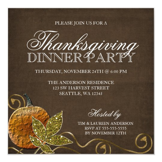 Thanksgiving Dinner Party Invitations Zazzlecom