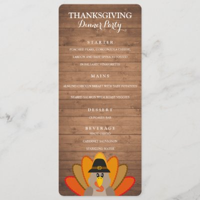 thanksgiving dinner menu template with fall leaves zazzle com