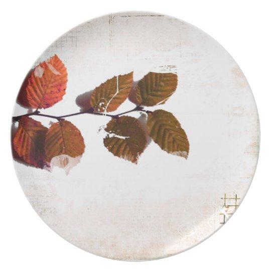 thanksgiving dinner plate. melamine plate