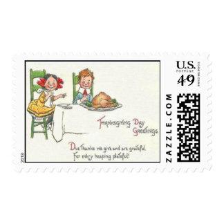 Thanksgiving Dinner Stamps