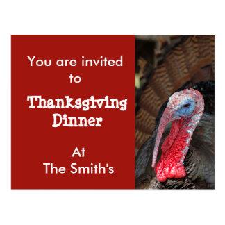 Thanksgiving Dinner Postcard