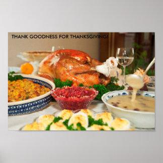 thanksgiving dinner poster FROM 14.95