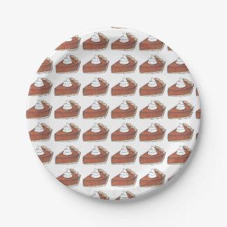 Thanksgiving Dinner Pumpkin Pie Slice Plates