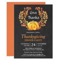 Thanksgiving Dinner | Rustic Autumn Chalkboard Invitation