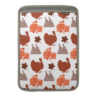 Thanksgiving Dinner Turkey Pumpkin Fall Harvest Sleeve For MacBook Air