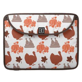 Thanksgiving Dinner Turkey Pumpkin Fall Harvest Sleeves For MacBook Pro