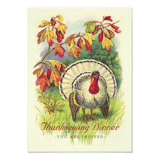 Thanksgiving Dinner Vintage Turkey Invitation