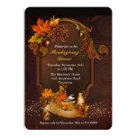 Thanksgiving Dinner with Autumn Leaves Custom Invites