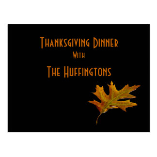 """""""Thanksgiving Dinner with __"""" Postcard"""