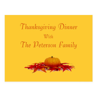 """""""Thanksgiving Dinner with _"""" Postcard"""
