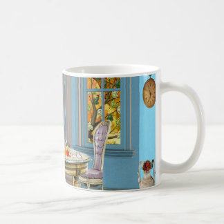 Thanksgiving Dinning Room with Picture Window Classic White Coffee Mug