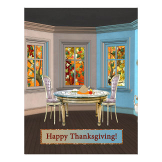 Thanksgiving Dinning Room with Picture Window Letterhead