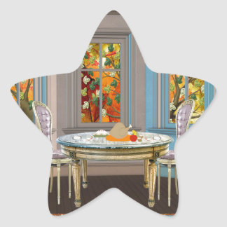 Thanksgiving Dinning Room with Picture Window Star Sticker