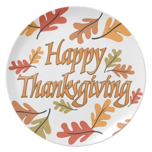 Thanksgiving Dishes Dinner Plates | Zazzle