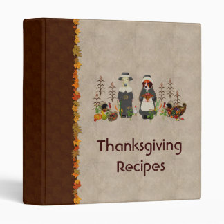 Thanksgiving Dogs 3 Ring Binder
