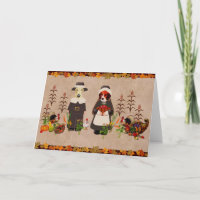 Thanksgiving Dogs Cards