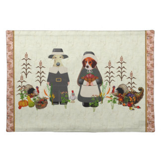 Thanksgiving Dogs Cloth Placemat