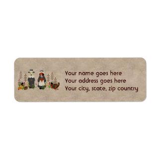 Thanksgiving Dogs Return Address Label