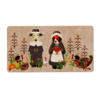 Thanksgiving Dogs Shipping Label