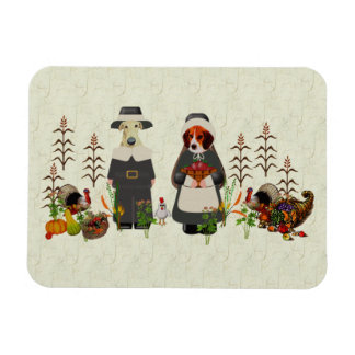 Thanksgiving Dogs Magnet