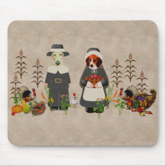 Thanksgiving Dogs Mouse Pad