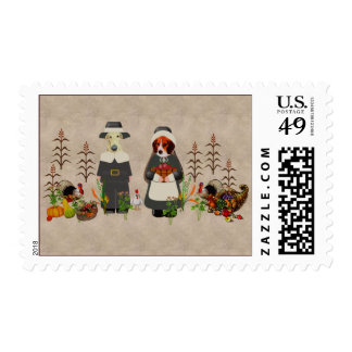 Thanksgiving Dogs Stamps