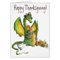 Thanksgiving Dragon card
