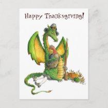 Thanksgiving Dragon postcard
