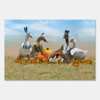 Thanksgiving Ducks Lawn Signs