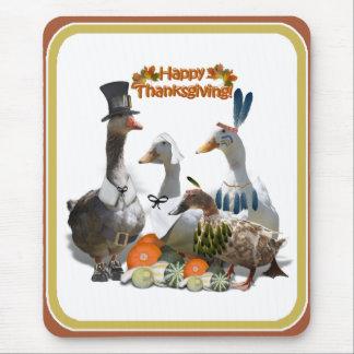 Thanksgiving Ducks Mousepads