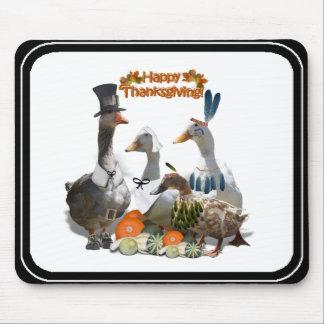 Thanksgiving Ducks - Pilgrims & Indians Mouse Pads