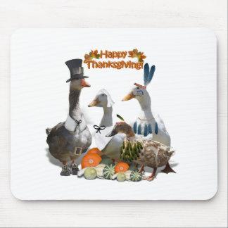 Thanksgiving Ducks - Pilgrims & Indians Mousepad