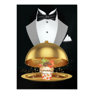 Thanksgiving Elegant Cupcake Invitation - SRF